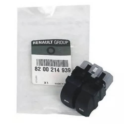 8200214939 Renault Twingo 2007-tol Ablak emelő kapcsoló,dupla bal első gyári alkatrész