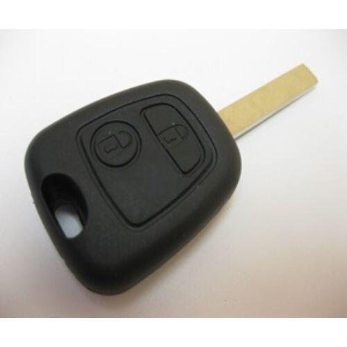 Peugeot új utángyártott típusfüggetlen két gombos kulcsház 2005-től