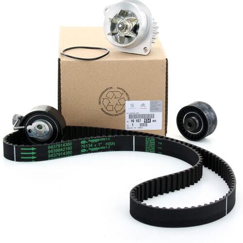 Citroen C-Elysee 1.6 VTI gyári új vezérműszíj készlet vízpumpával, vezérlés szett 134 fogas vezérműszíjjal 2012-től 1610793480  9829304780  1201E5  0816E0, webáruház, alkatrészek