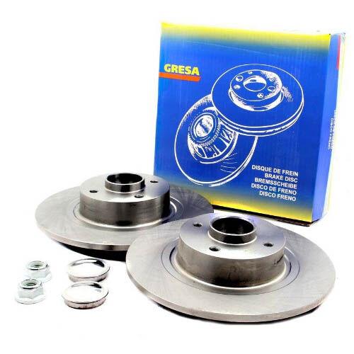 Féktárcsa pár kerékaggyal és mágneses ABS gyűrűvel  hátsó tengely 432001539R  432007595R