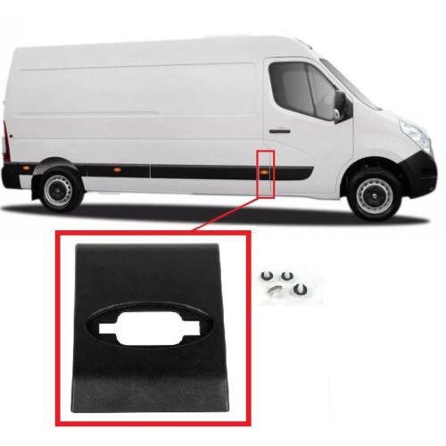 Renault Master III 2010-től  oldaldíszléc jobb első ajtó mögött új utángyártott Renault alkatrész