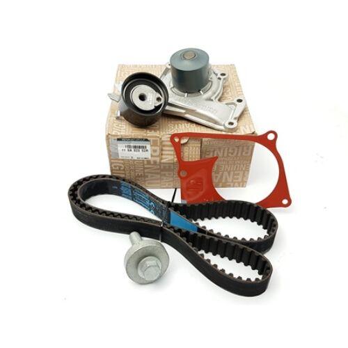 Dacia Sandero II 1.5dci gyári új vezérműszíj készlet vízpumpával, vezérlés szett 123 fogas vezérműszíjjal 2012-től 119A02552R  7701477028  7701478830  210107477R, webáruház, alkatrészek