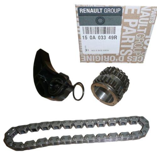 Renault Clio IV 0.9 Tce, 1.2 Tce gyári új olajpumpa, olajszivattyú meghajtó lánc készlet 2012-től 150A03349R
