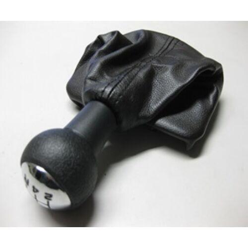 Citroen C5 I új utángyártott fekete váltógomb króm kupakkal szoknyával 5 sebességes járművekhez 2001-2005-ig  2403.CV, webáruház, alkatrészek
