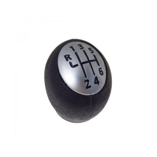 Renault Megane II új utángyártott váltógomb fekete ezüst kupakkal 6 sebességes járművekhez 2003-2008-ig 328650024R 32650025R
